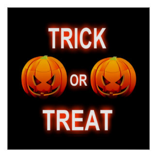 Poster Trick Or Treat Pumpkins