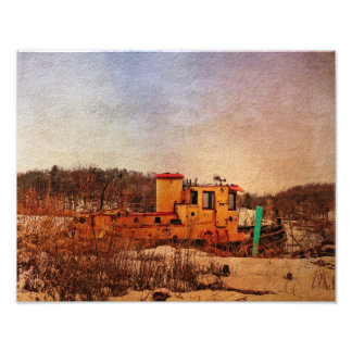 Poster-Tugboat at Rest Photo Print