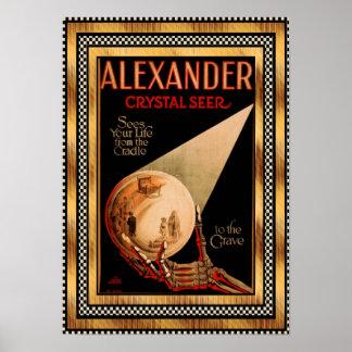 Poster Vintage Alexander Crystal Seer theatre