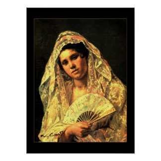 Poster Vintage Art Spanish Woman
