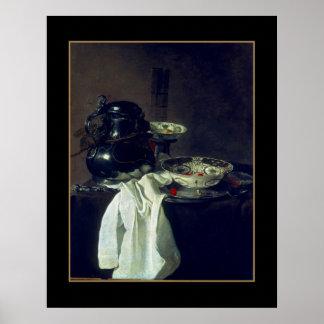Poster Vintage Art Still Life Bowls Painting