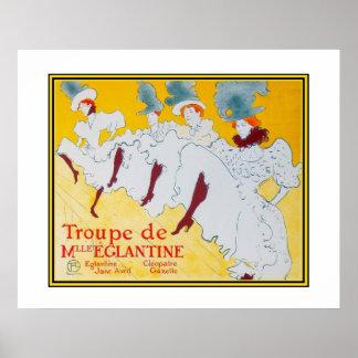 Poster Vintage Art Toulouse Lautrec Dancers Poster