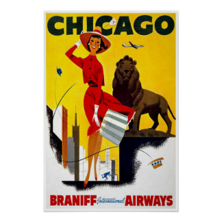 Poster-Vintage Chicago Advertisement Poster