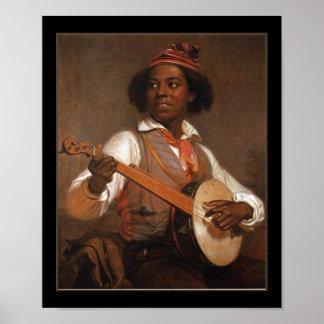 Poster Vintage The Banjo Player