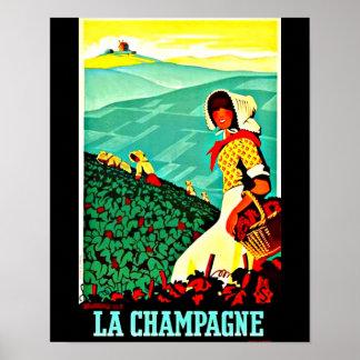 Poster-Vintage Travel Art-Champagne Poster