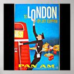 Poster-Vintage Travel Art-London