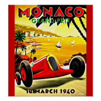 Poster-Vintage Travel Art-Monaco Poster