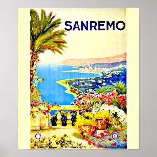 Poster-Vintage Travel Art-Sanremo Poster