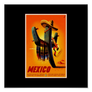 Poster-Vintage Travel-Mexico Poster