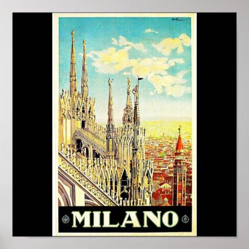 Poster-Vintage Travel-Milano