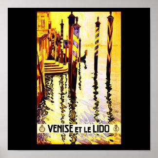 Poster-Vintage Travel-Venise Poster