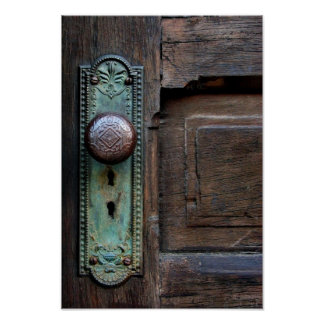 Poster  w/Options  'Old Door Knob' by Joanne Coyle