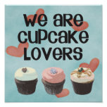 """Poster """"WE ARE CUPCAKE LOVERS"""""""
