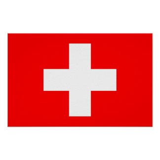 Poster with Flag of Switzerland