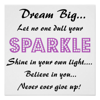 Poster with Motivational Saying - Dream Big!