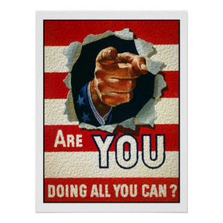 Poster with Patriotic Motive from World War Two