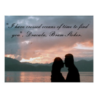 Poster with quote from Bram Stoker