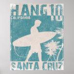Poster with Santa Cruz Surfer Print