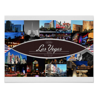 Poster with Scenes from Las Vegas