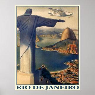 Poster with Vintage Rio de Janeiro Print