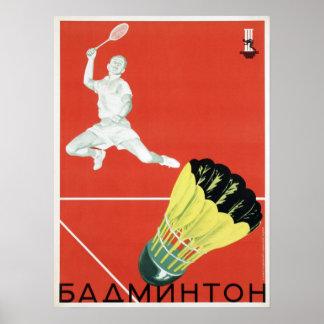 Poster with Vintage USSR Sport Propaganda