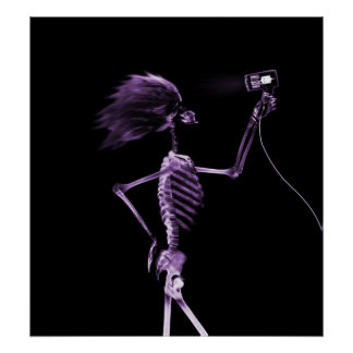 POSTER - X-RAY SKELETON HAIR STYLING PURPLE
