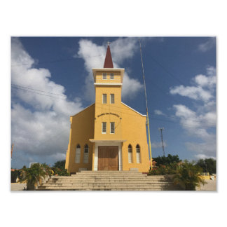 Poster yellow church.