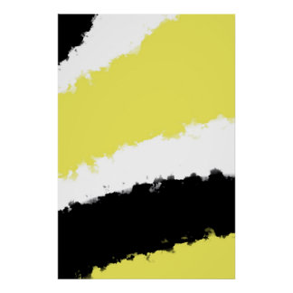 Poster, Yellow Watercolor, Abstract Minimalism