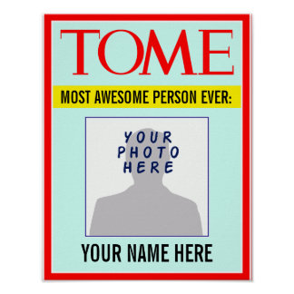 Poster: YOUR Name & Photo on Magazine Cover! Poster