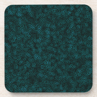 Posterised Blue Thread Coaster