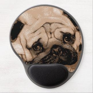 Posterize Euro Pug Gel Mousepad