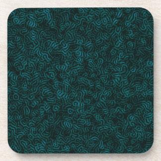 Posterized Blue Thread Coaster
