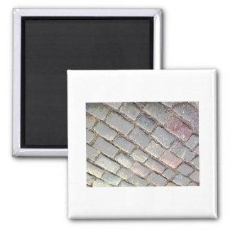 Posterized Cobbles Square Magnet