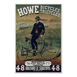 Posters/Prints: Howe Bicycles Tricycles Poster