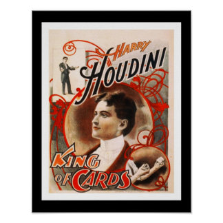 Posters Theater Vintage Houdini King Of Cards