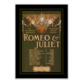 Posters Theater Vintage Romeo Juliet