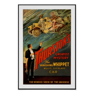 Posters Theater Vintage Thurston Magican Car