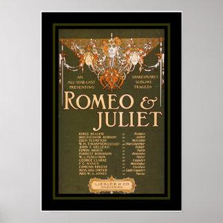Posters Theatre Vintage Romeo Juliet