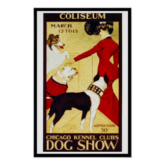 "Posters Vintage ""Dog Show"" Coliseun"
