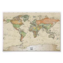 World map posters prints zazzle posters world map gumiabroncs Images