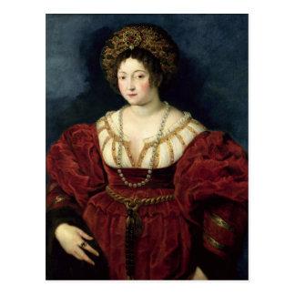 Posthumous portrait of Isabella d'Este Postcard