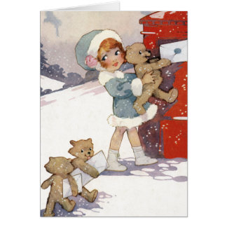 Posting Christmas Letters by Agnes Richardson Card