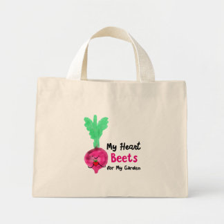 Postive Beet Pun - My Heart Beets for my Garden Mini Tote Bag