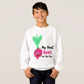 Postive Beet Pun - My Heart Beets for my Garden Sweatshirt