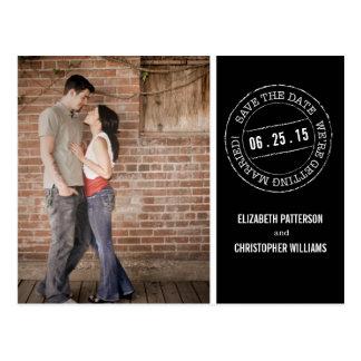 Postmark Wedding Photo Save the Date Postcard