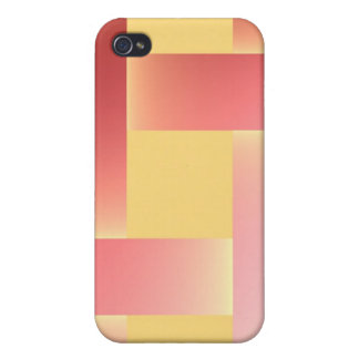 Postmodern pastel colors pink and salmon iPhone 4/4S cases