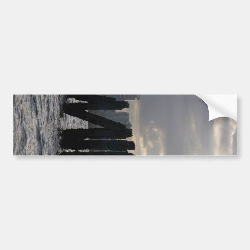 Posts and Skyline Bumper Sticker