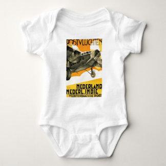 POSTVLUCHTEN PLANE. Retro vintage airliner ad 1933 Baby Bodysuit