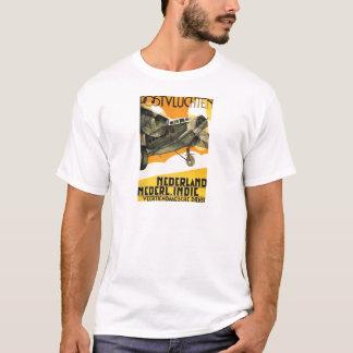 POSTVLUCHTEN PLANE. Retro vintage airliner ad 1933 T-Shirt