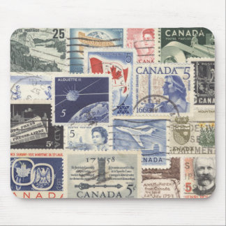 Postwar Canadian Postage Stamps Mouse Pad